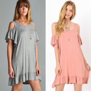 MILA ROSE Cold Shoulder Dress - 2 colors